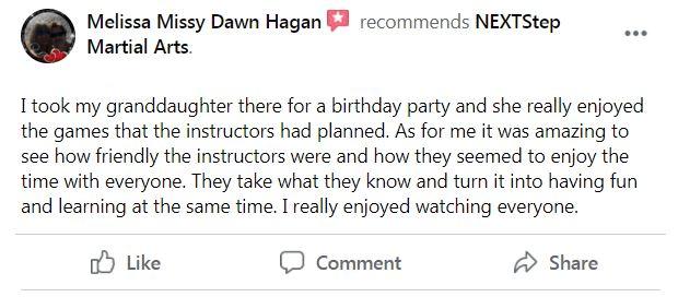 Birthday Party 2, NEXTStep Martial Arts Gettysburg PA